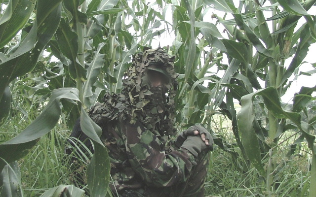 Operator showing rural camoflague